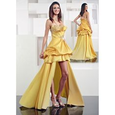 Yellow And Gold Prom Dresses 102