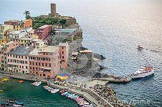 Vernazza Cinque Terre Italy Stock Photo - Image of beautiful, harbor: 77451738 Cinque Terre Italy, Cliff, Houses, Stock Photos, Image, Beautiful, Homes, House, Computer Case