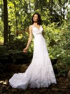 Allure Wedding Dresses, Spring 2009. Colors: White/Silver, Ivory/Silver, Ivory/Light Gold/Silver. Style: 8634