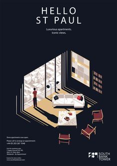 Tom Haugomat - Poster for South Bank Hotel London