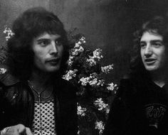 Freddie Mercury singer w/ John Deacon (Bass player)
