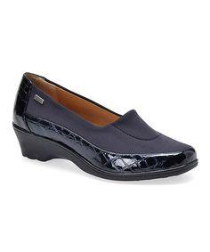 Look at this #zulilyfind! Metallic Navy Sissel Croco Patent Shoe #zulilyfinds