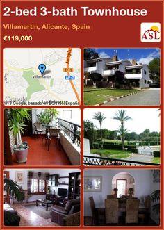 2-bed 3-bath Townhouse in Villamartin, Alicante, Spain ►€119,000 #PropertyForSaleInSpain