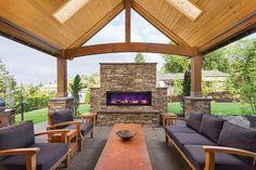 Amantii BI-50-DEEP – 50″ wide x 12″ deep – Built-in Outdoor Electric Fireplace