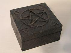 WICCAN PAGAN PENTAGRAM Jewelry Keepsake Wood Box by EaglesFanAl.deviantart.com on @DeviantArt