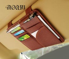 Cheap glasses visor clip, Buy Quality visor glasses directly from China car sun visor glasses Suppliers: MOQIU High Quality Microfiber PU leather Car Sun Visor Glasses clip / card holder multifunctional storage bag clip Leather Accessories, Leather Jewelry, Car Accessories, Leather Craft, Car Trip Organization, Car Seat Organizer, Car Organizers, Accessoires 4x4, Leather Book Covers