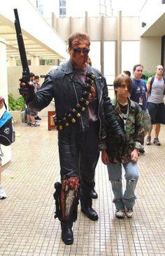Terminator and John Conner.