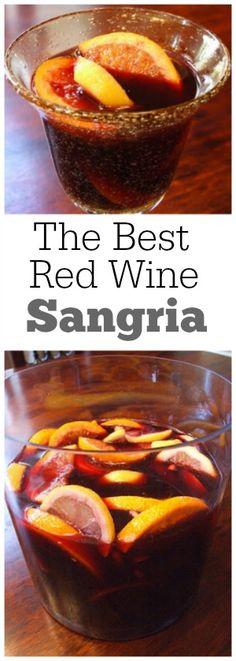 The best Red Wine Sangria recipe : always a huge hit!
