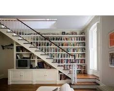 bookcase staircase - Google Search