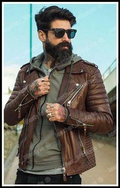 Leather Jacket Men's Lambskin NEW ARRIVAL Motorcycle Genuine Biker Outwear BS17…