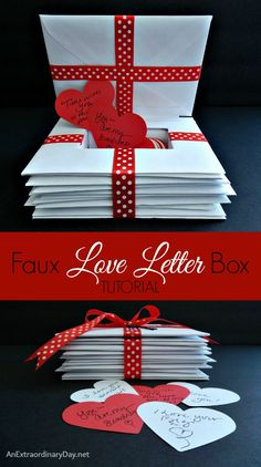 What's sweeter than a box of letters tied up with ribbon? A faux love letters box you create with a special treasure tucked inside. Here's the tutorial...