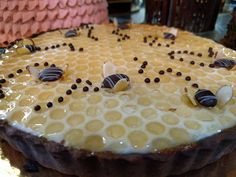 Buzzing for the #bees! Come try a #slice of our #honey #lemon #tart. Or snag a whole #cake or #torte for your awesome #mom. We have a lot of great things to pick from in our #freshbaked display case!