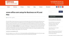 www office com setup for Business on PC and Mac