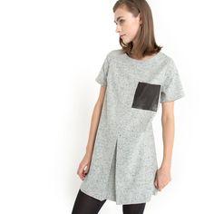 Robe KINN, coupe courte, drap de laine chinée