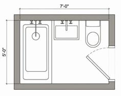 63 Best 5x7 bathroom layout images in 2019 | Small shower ...