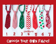 Childrens Christmas Necktie - SHIPS TODAY - Pick 1 Custom Fabric - MiniMan tie for Infant Baby Toddler Boy Teen Adult on Etsy, $14.80