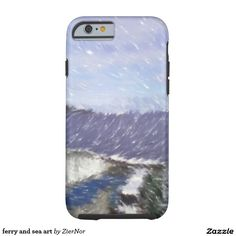 ferry and sea art tough iPhone 6 case