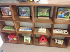 Montessori toddler shelves