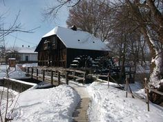 """Túristvándi """"water mill"""" still working! Water Mill, My Heritage, Hungary, Old Things, Cabin, Country, House Styles, Places, Outdoor"""