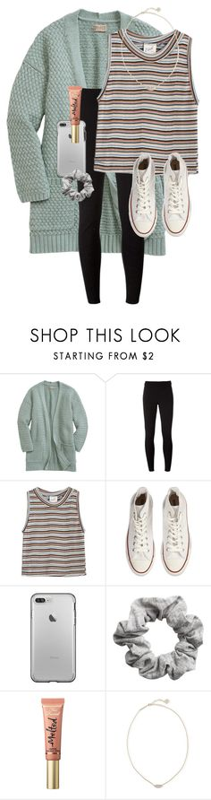 """""""You guys I hula hooped during history yesterday"""" by erinlmarkel ❤ liked on Polyvore featuring NIKE, Edith A. Miller, Converse, H&M, Too Faced Cosmetics and Kendra Scott"""