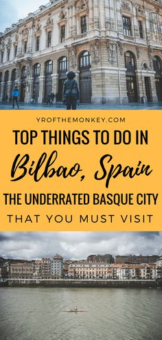 Two days in Bilbao is your perfect northern Spain itinerary packed with five amazing things to do in Basque country's largest city. Discover why Bilbao is the underrated gem of Spain in this post and explore the major Bilbao attractions and delicious food in this post. Pin it to your Spain or Europe guide for later. #bilbao #basque #spain #basquecuisine #europe #europetravel