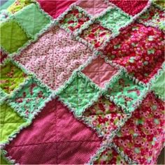 Flannel Rag Quilts, Baby Rag Quilts, Girls Rag Quilt, Girls Quilts, Rag Quilt Patterns, Rag Quilt Tutorials, Rag Quilt Instructions, Layer Cake Quilt Patterns, Layer Cake Quilts