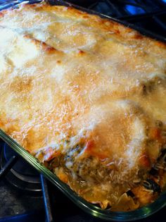 Cook with Compassion: Lasagna Azteca from our Mexico office made with poblano chiles and squash. YUM!