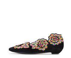 Attilio Giusti Leombruni - The Flower ballet flat. #aglshoes #shoes #ballet #flower #feminine #fw17