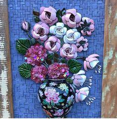 Trabalhos em Mosaico: Flores em Mosaico