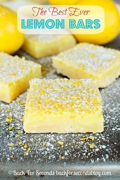 Lemon Bars - SERIOUSLY. Look no further, these are the best! #lemon ...