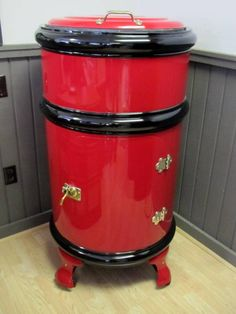 vintage icebox images | Restored 1900's Round Ice Box with Original Hardware - Soda Machines ...