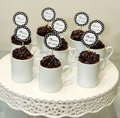 cake in cup 80th Birthday, Birthday Parties, Mini Cupcakes, Decoration, Aries, Party Themes, Projects To Try, Baby Shower, Tableware