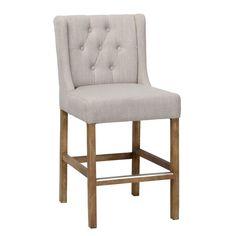 """Haleys stools: The Adalynn Tufted 24"""" Bar Stool is an"""