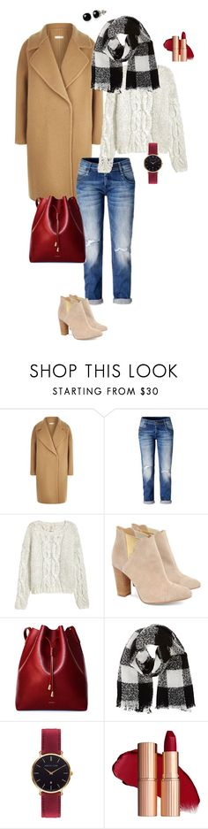 """Camel coat"" by ulusia-1 ❤ liked on Polyvore featuring MaxMara, H&M, Cleo B, RUSKIN, Barneys New York, Abbott Lyon and Belk & Co."