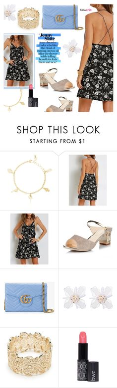 """""""Newchic14: Fresh and new"""" by bugatti-veyron ❤ liked on Polyvore featuring Gucci and Sole Society"""