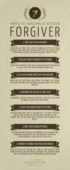 7 ways to become a better forgiver.