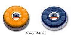 Custom Table Shuffleboard Puck Weights Made for Samuel Adams Beer!
