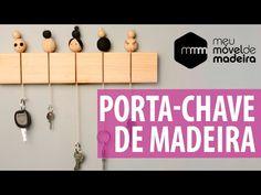 DIY: porta-chaves de madeira - YouTube