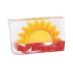 """DESCRIPTION Brightly bursting on the scene! Greet the day with sunny citrus and a floral finish. DETAILS & DIMENSIONS - One Sunrise/Sunset bar soap - 100% Handmade - Made in the USA - Ingredients: Pure vegetable glycerin soap fragrance and natural mineral pigments - Net weight: 6.0 oz / 170g - Dimensions: Approx. 4.5"""" x 2.5"""" x 3/4"""" #diycuttingboard"""