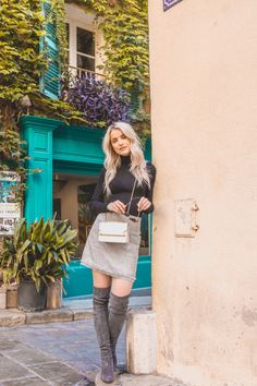 How to Style Over Knee Boots for Autumn Winter - Inthefrow