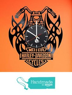Harley Davidson Gift Vinyl Record Wall Clock - Get unique bedroom wall decor - Gift ideas for girlfriend and boyfriend - Leave us a feedback and win your custom clock from TO Design Studio https://www.amazon.com/dp/B01DF6QCJ8/ref=hnd_sw_r_pi_awdo_BoPzxb855RHAM #handmadeatamazon