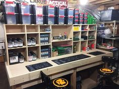Official Reloading Bench Picture Thread - Now with more Pictures! - Page - Holzbearbeitung Reloading Table, Reloading Bench Plans, Reloading Room, Reloading Equipment, Ammo Storage, Weapon Storage, Gun Safe Room, Gun Rooms, Hobby Room