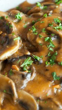 Smothered Golden Mushroom Pork Chops