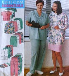 Uniform Scrubs Sewing Pattern
