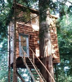 What do you get when you combine treehouse designs with tiny house living solutions? A tiny treehouse home that provides financial security and sustainability. www.tinyhousewebsites.com