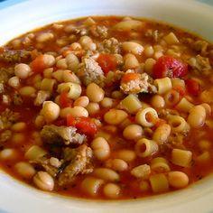 Olive Garden Pasta E Fagioli Soup in a Crock Pot (Copycat) Recipe