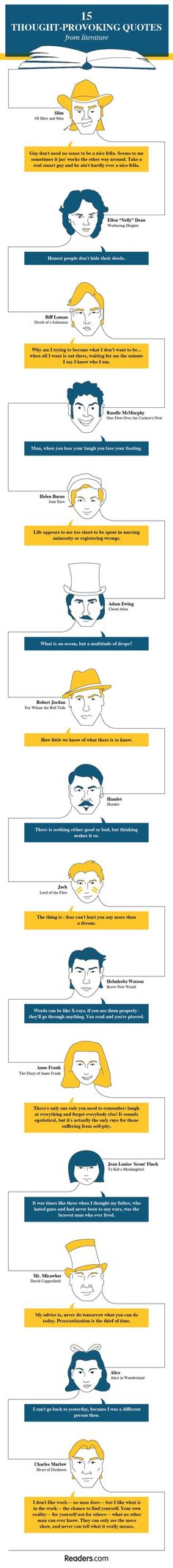 15 thought provoking quotes from literature (infographic)