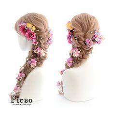 Gallery 196  Order Made Works Original Hair Accessory for WEDDING  #ヴィヴィッド #ピンク の #ガーベラ が #魅力的な #大人気 の #パール 付き #ラプンツェル ふう スタイル# ホームページやTwitter, @mkmk1109 からも 問い合わせが多いのでギャラリーに追加させていただきました。 #連続投稿ごめんなさい # #結婚式 #成人式 #卒業式 #オーダーメイド #髪飾り  # #花飾り #造花 #ヘアセット #アップスタイル #前撮り #花嫁 #挙式 #ウェディング #ブライダル #hairdo #flower #hairaccessory #picco #rapunzel  Twitter , FACEBOOKページ始めました→「picco」で検索 いいね、フォロー宜しくお願いします。
