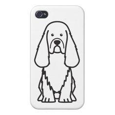 Sussex Spaniel Dog Cartoon iPhone 4 Cases