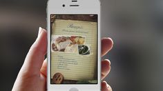 App-Design, recipe suggestions page